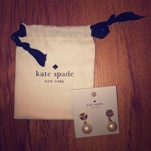NWT! Kate Spade Lady Marmalade cream earings